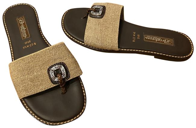Item - Brown Thong Stretch Panel N Sandals Size US 7.5 Narrow (Aa, N)