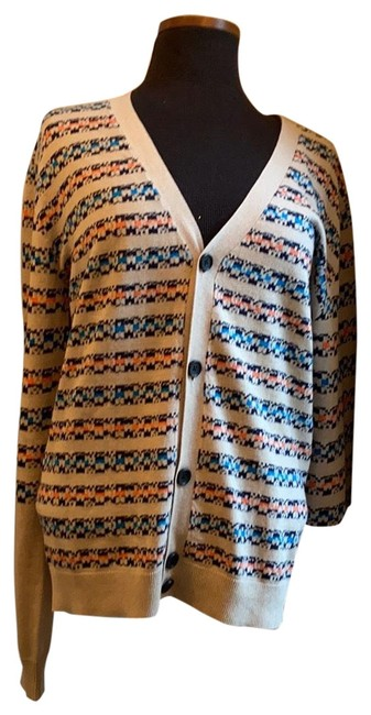 Item - Oatmeal Cashmere Blended Button Down Cardigan Size 8 (M)