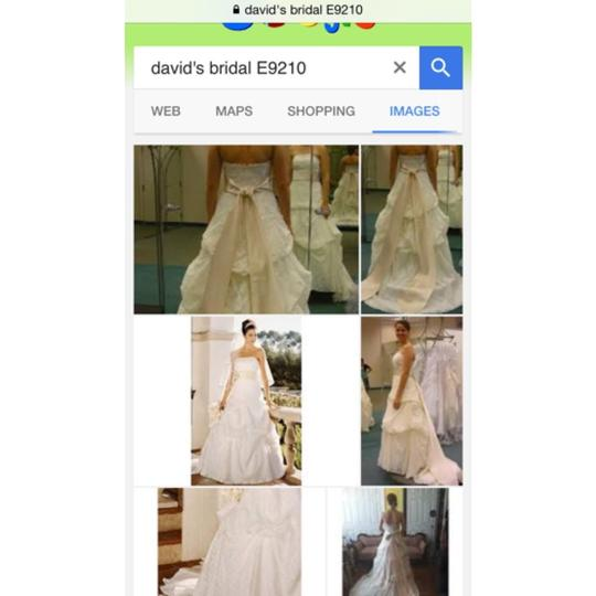 Preload https://item4.tradesy.com/images/david-s-bridal-ivory-lace-strapless-beaded-with-pick-up-skirt-feminine-wedding-dress-size-6-s-276763-0-0.jpg?width=440&height=440