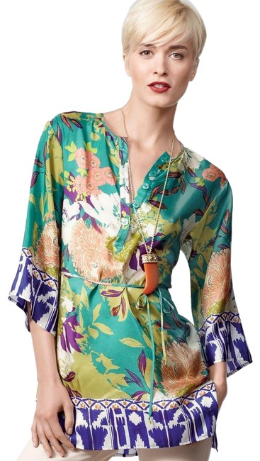 Item - Green/Multi Poetry Tunic Size 6 (S)