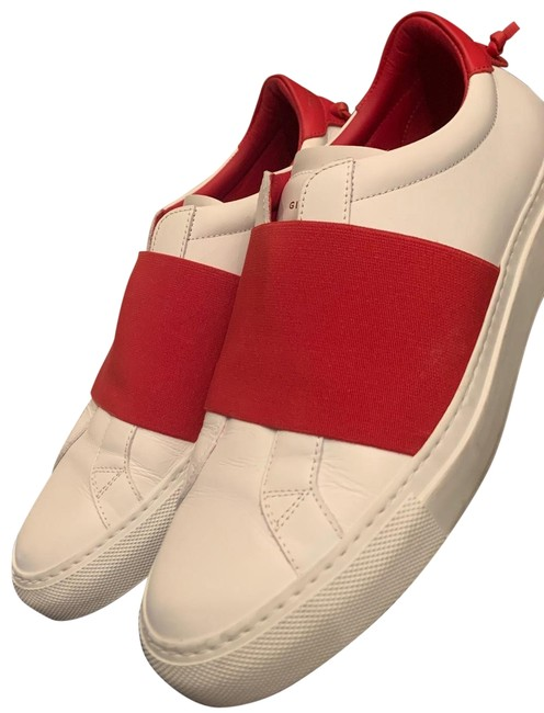 Item - White/Red Be09192817-112 -cuir Veau- Sneakers Size EU 38 (Approx. US 8) Regular (M, B)