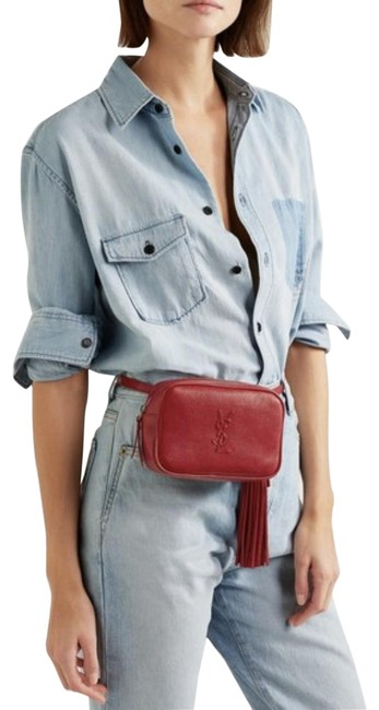 Item - Belt Lou 1720 Nwot Ysl Smooth Red Leather Cross Body Bag