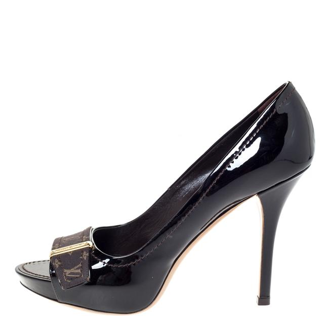 Item - Dark Burgundy Buci Monogram Idylle & Patent Leather 37.5 Pumps Size US 7 Regular (M, B)