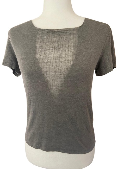 Item - Gray Distressed V Tee Shirt Size 4 (S)