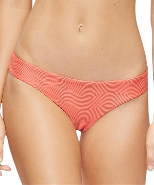 Item - Amalfi Coral Pink Revolve Ali Textured Full Cheeky Bikini Bottom Size 2 (XS)