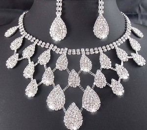 Taoqiao Gorgeous Bridal Necklace Set Wedding Jewelry Evening Clothing Access...