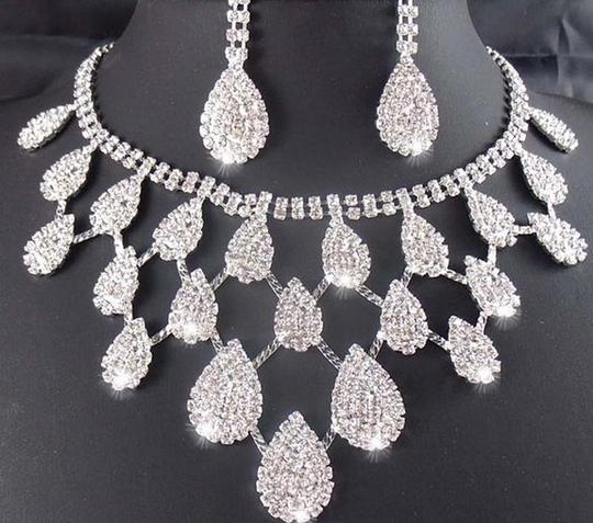 Clear Evening Clothing Access... Necklace