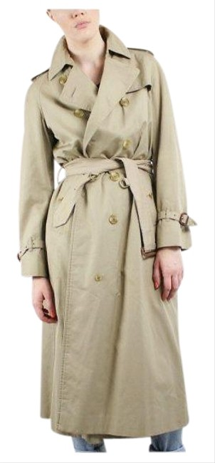Item - Tan Vintage Double Breasted Women's Coat Size 12 (L)