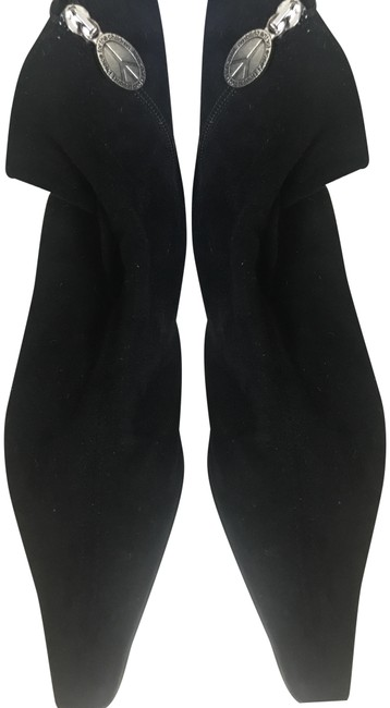 Item - Black Suede with Leather Heel Boots/Booties Size US 10 Regular (M, B)