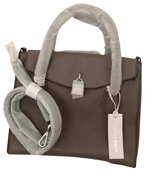 Item - Mercer Mk 30h6sm9s9 Cinder Grey Leather Cross Body Bag