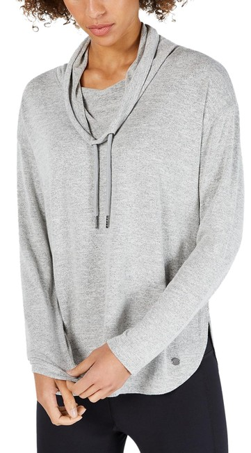 Item - Quartz Grey Performance Cowlneck Super Soft Activewear Top Size 8 (M)