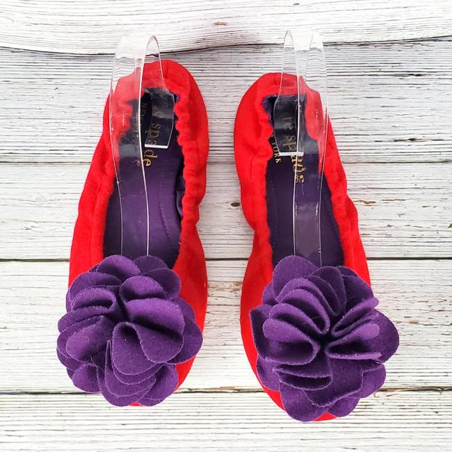 Item - Red New York Forty Winks Wool Slippers Flats Size US 7 Regular (M, B)