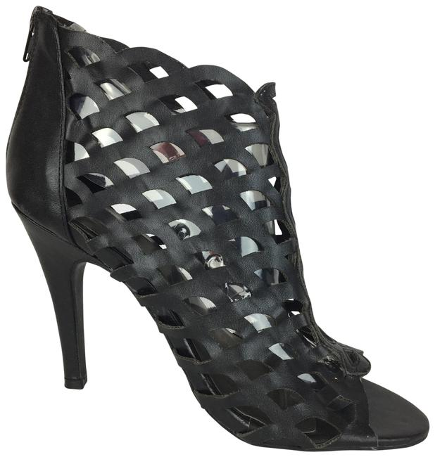 Item - Black Cage Boots/Booties Size US 8 Wide (C, D)