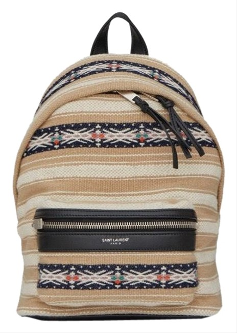 Item - City Toy Berber Ivory/Black Cloth Backpack