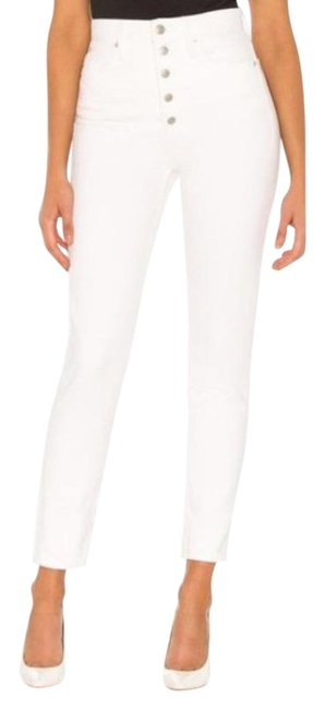 Weworewhat White Cream Light Wash Danielle High Rise Vintage Straight Leg Jeans Size 28 (4, S) Weworewhat White Cream Light Wash Danielle High Rise Vintage Straight Leg Jeans Size 28 (4, S) Image 1