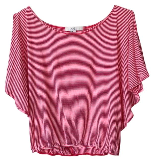 Preload https://img-static.tradesy.com/item/276795/forever-21-red-and-white-striped-butterfly-sleeve-blouse-size-8-m-0-0-650-650.jpg