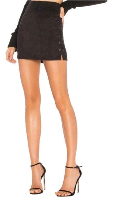 Item - Black Faux Suede Lace Up Skirt Size 4 (S, 27)
