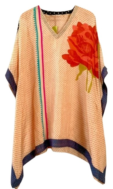 Item - Orange Red Anupamaa Silk Hand Dyed Tunic Size OS (one size)