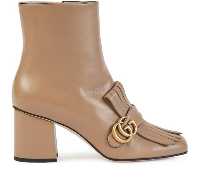 Item - Nude Marmont Gg Leather Ankle Boots/Booties Size EU 37.5 (Approx. US 7.5) Regular (M, B)