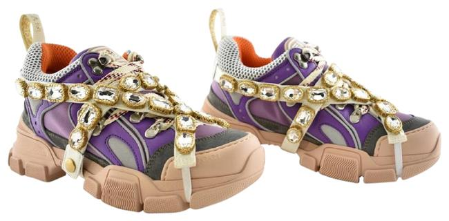 Item - Purple Journey Flashtrek Embellished Jewel Crystal Lace Up Hiker Boot Sneakers Size EU 38 (Approx. US 8) Regular (M, B)
