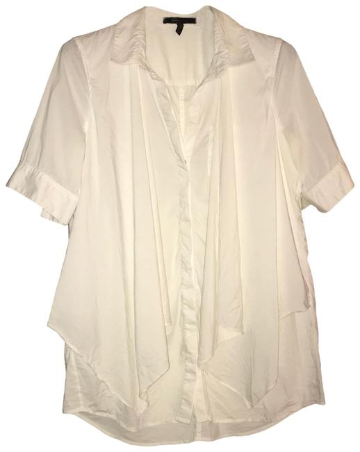 Item - White With Front Cover Up Blouse Size 14 (L)