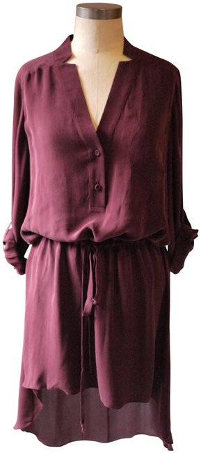 Item - Wine High/Low Mid-length Casual Maxi Dress Size 2 (XS)
