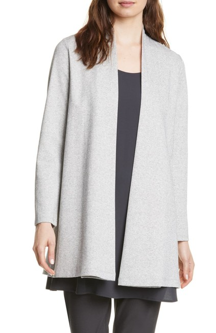 Item - Gray Herringbone Slit Organic Cotton Blend Jacket Size 6 (S)