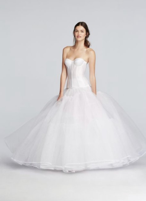 Item - White Extreme Ball Gown Hoop Slip
