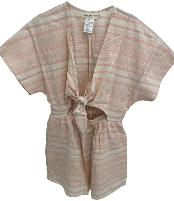 Item - Pink & White Romper Cover-up/Sarong Size 4 (S)