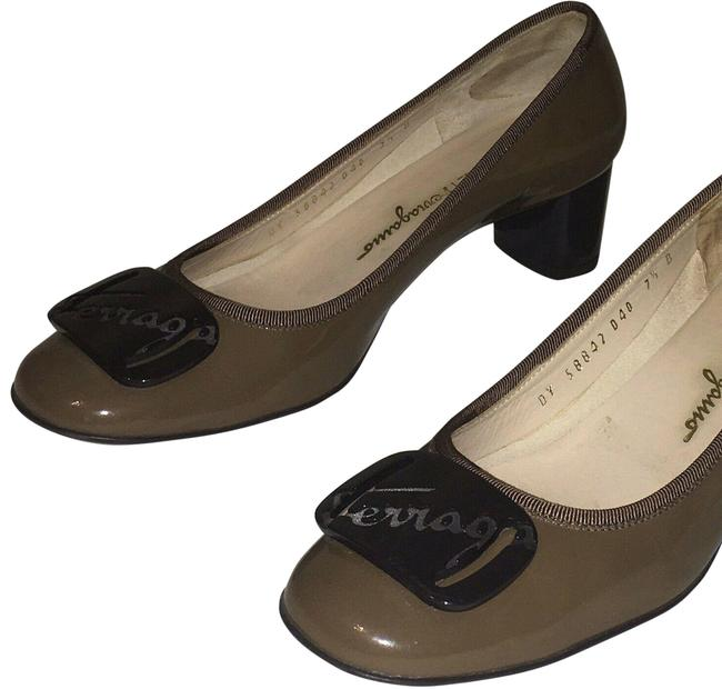 Item - Brown My Charm Patent Leather Pumps Size US 7.5 Regular (M, B)