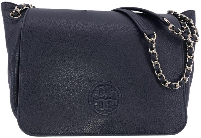 Item - Bombe Small Flap Navy Leather Shoulder Bag