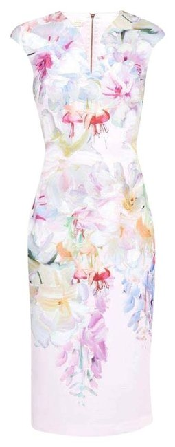 Item - Multicolor Hanging Gardens Bodycon In Baby Pink 2=us Mid-length Short Casual Dress Size 6 (S)