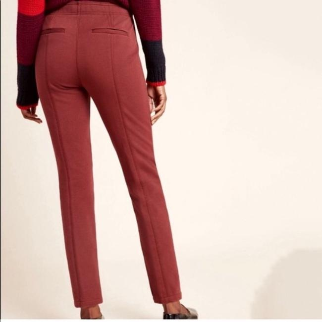 Anthropologie Rust Brown Byson Tapered Button Fly Pants Size 0 (XS, 25) Anthropologie Rust Brown Byson Tapered Button Fly Pants Size 0 (XS, 25) Image 2