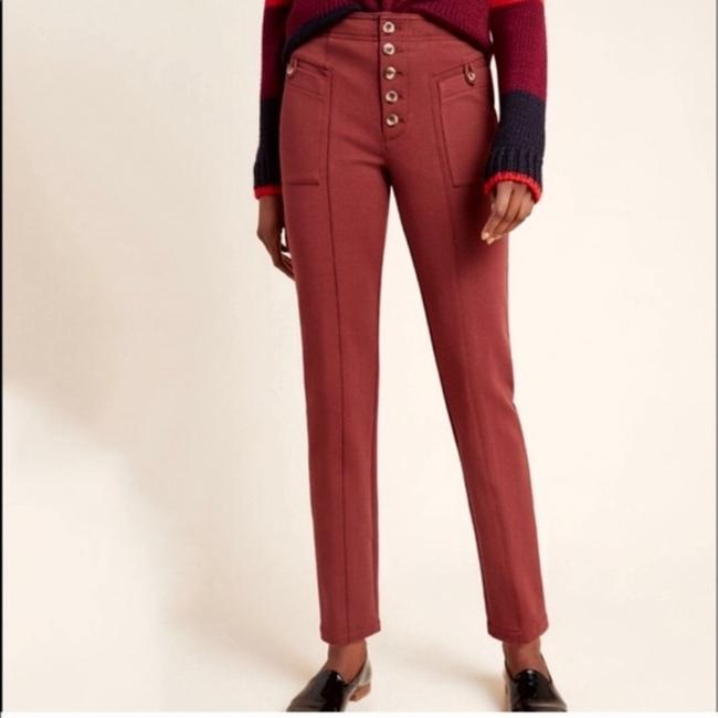 Anthropologie Rust Brown Byson Tapered Button Fly Pants Size 0 (XS, 25) Anthropologie Rust Brown Byson Tapered Button Fly Pants Size 0 (XS, 25) Image 4