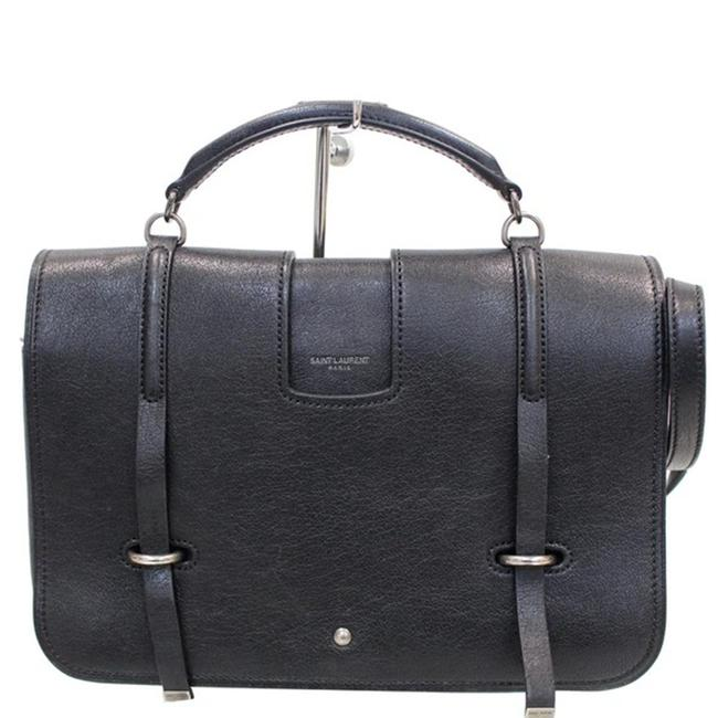 Item - Charlotte Yves Large Black Leather Messenger Bag