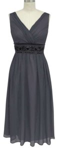 Gray Goddess Beaded Waist Size:large Dress Dress