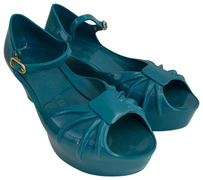 Item - Forest Green Kartell Super Bow Sandals Size EU 39 (Approx. US 9) Regular (M, B)