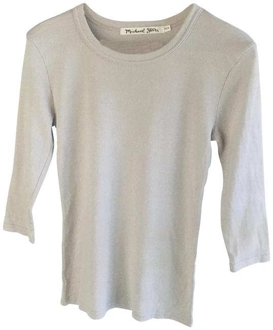 Item - Beige Brown Taupe Shine Boatneck 3/4 Sleeve Tee Shirt Size 2 (XS)