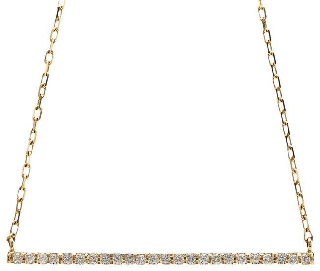 Item - Yellow Gold 0.25ct Stunning 14k Solid Diamond Bar Necklace