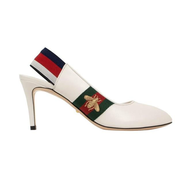 Item - White Sylvie Women's Bee Slingback Style Leather Pumps Size EU 37 (Approx. US 7) Regular (M, B)