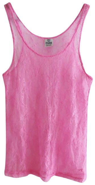 PINK Sheer Lace See-through Tank Top/Cami Size 2 (XS) PINK Sheer Lace See-through Tank Top/Cami Size 2 (XS) Image 1