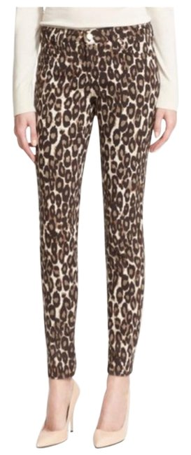 Item - Black/Brown Animal/Leopard Print Skinny Jeans Size 28 (4, S)