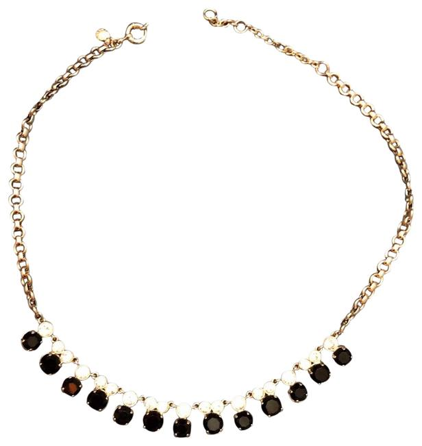 Item - Black and Clear Crystal Stones and Rhinestones Necklace