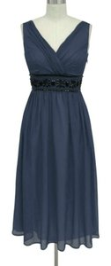 Navy Blue Goddess Beaded Waist Size:3x/4x Dress Dress