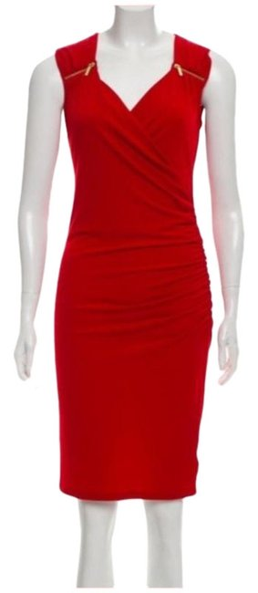 Item - Red Gold Party Mid-length Cocktail Dress Size 0 (XS)
