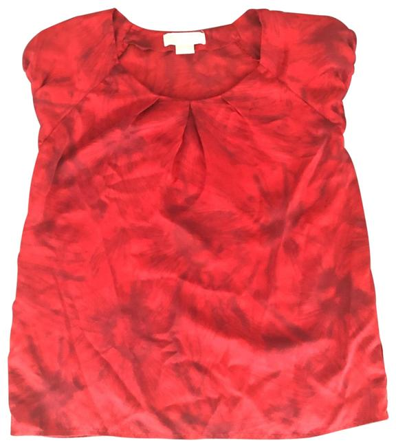 Item - Red Silk Blouse Size 8 (M)