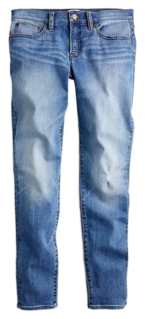 Item - Blue Medium Wash Toothpick Lightly Distressed Skinny Jeans Size 24 (0, XS)
