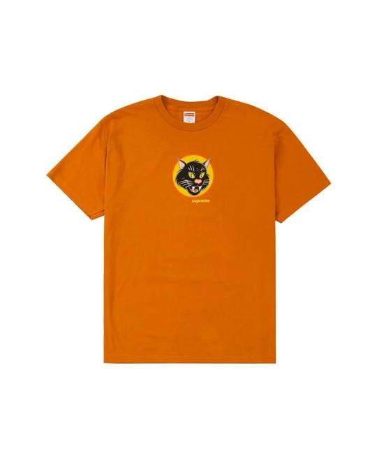 Item - Orange Black Cat Tee Shirt Size 12 (L)