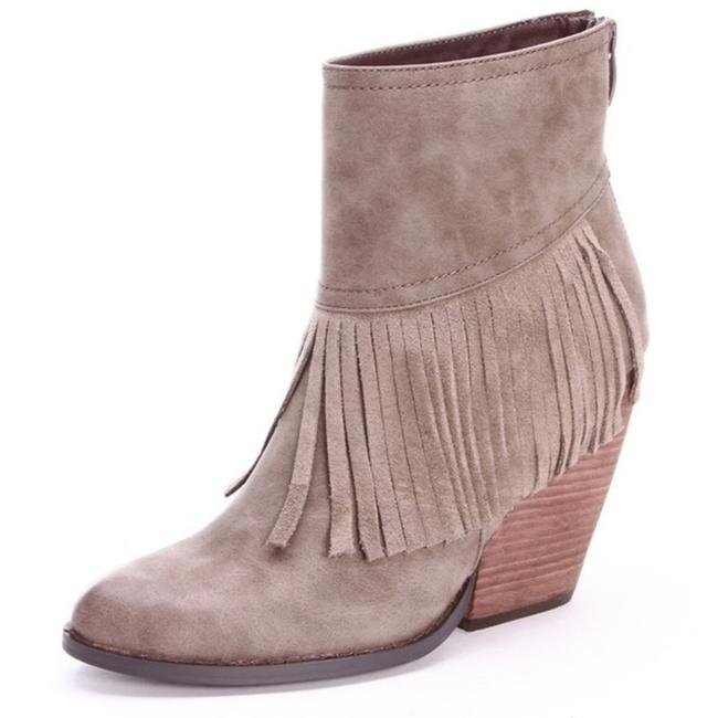 Very Volatile Brown Wedge Fringe Ankle Boots/Booties Size US 7 Regular (M, B) Very Volatile Brown Wedge Fringe Ankle Boots/Booties Size US 7 Regular (M, B) Image 2