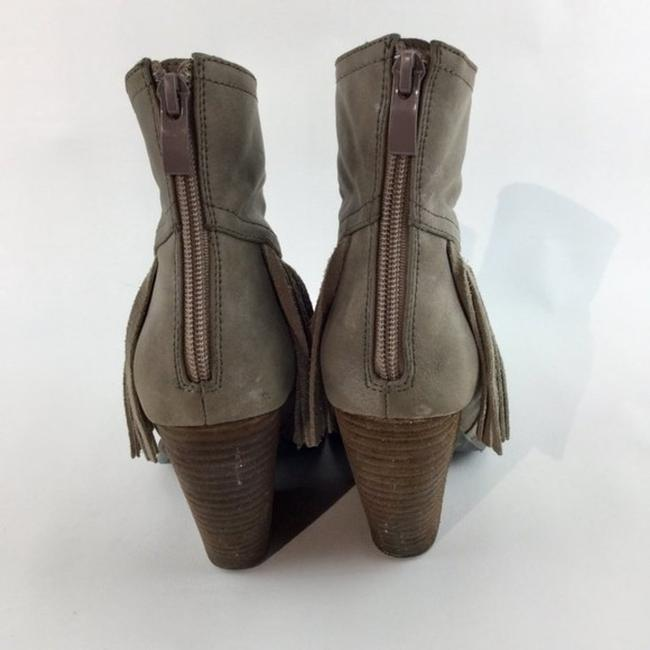 Very Volatile Brown Wedge Fringe Ankle Boots/Booties Size US 7 Regular (M, B) Very Volatile Brown Wedge Fringe Ankle Boots/Booties Size US 7 Regular (M, B) Image 4